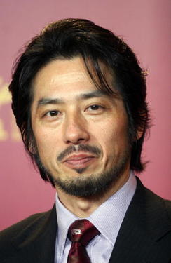 Hiroyuki Sanada at a photocall in Germany for &quot;Wuji.&quot;